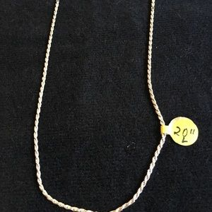 """Vintage Sterling Silver Chain 20"""""""